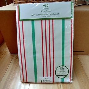 NWT Outdoor tablecloth striped water repellent